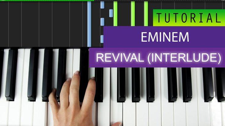 Eminem – Revival (Interlude) - Piano Tutorial + MIDI