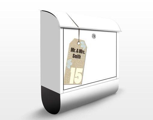 Briefkasten mit eigenem Text #Briefkasten #Postbox #letterbox #Postkasten #retro #wunschtext