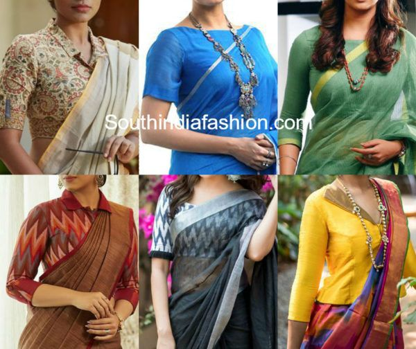 Best Blouse Designs To Wear With Office Wear Sarees One Of The