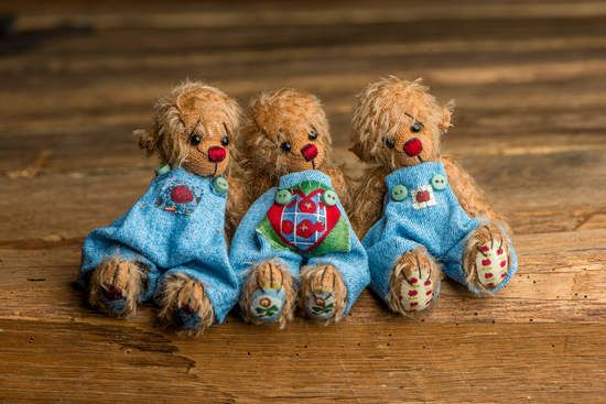 My three little ones By Brigitta Hausdorf - Bear Pile