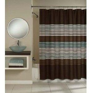 Horizontal Black Stripe Clear Shower Curtain Google Search Mid Century Bathrooms Pinterest