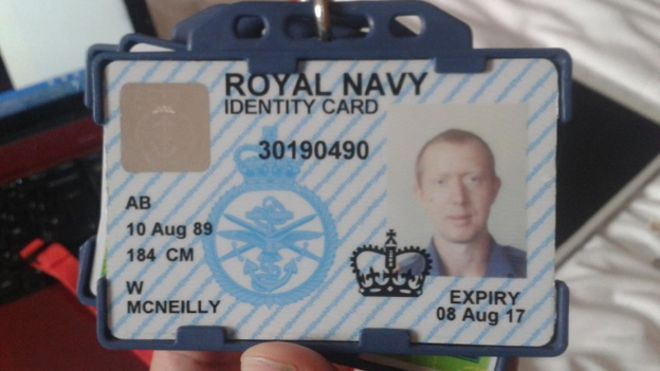 William McNeilly ID card