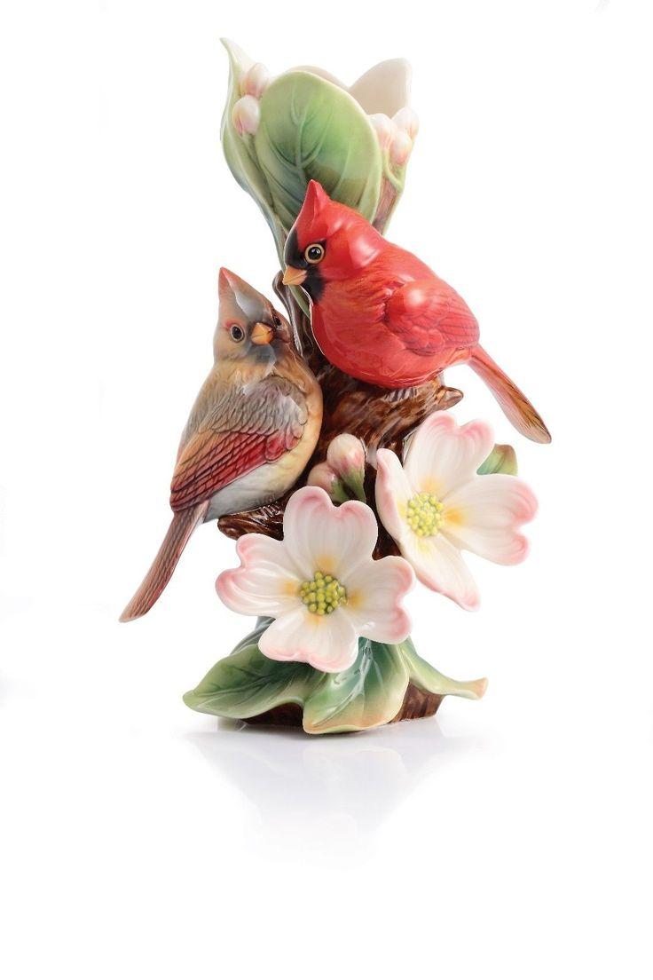 403 best franz porcellain images on pinterest porcelain flower fz02934 franz porcelain tender affection cardinals sculptured small vase reviewsmspy