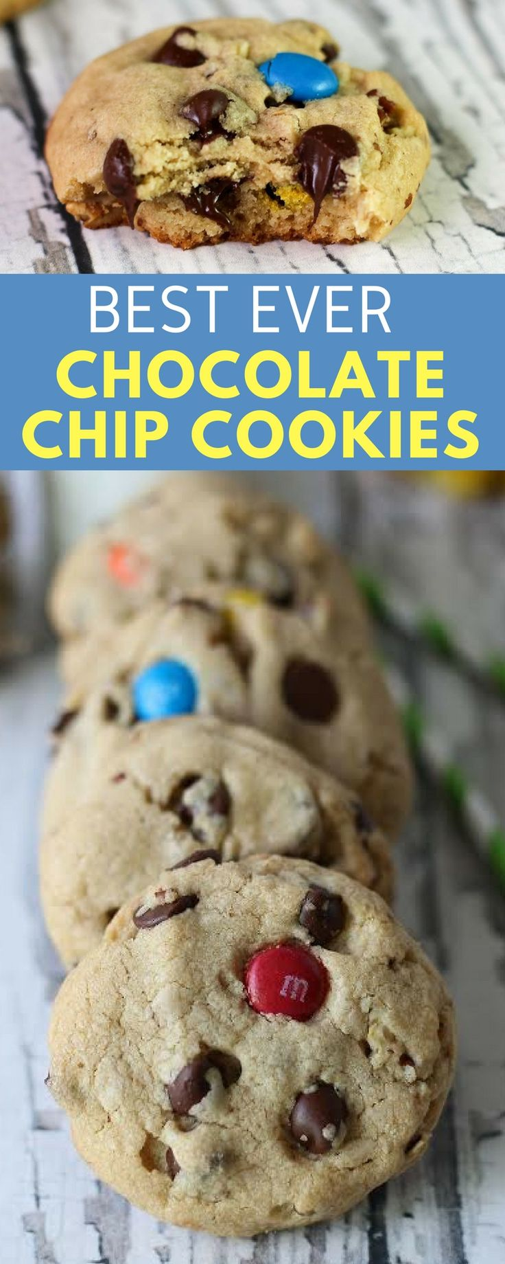 best ever chocolate chip cookies recipe! #chocolatechip #chocolatechipcookies #cookies #cookie
