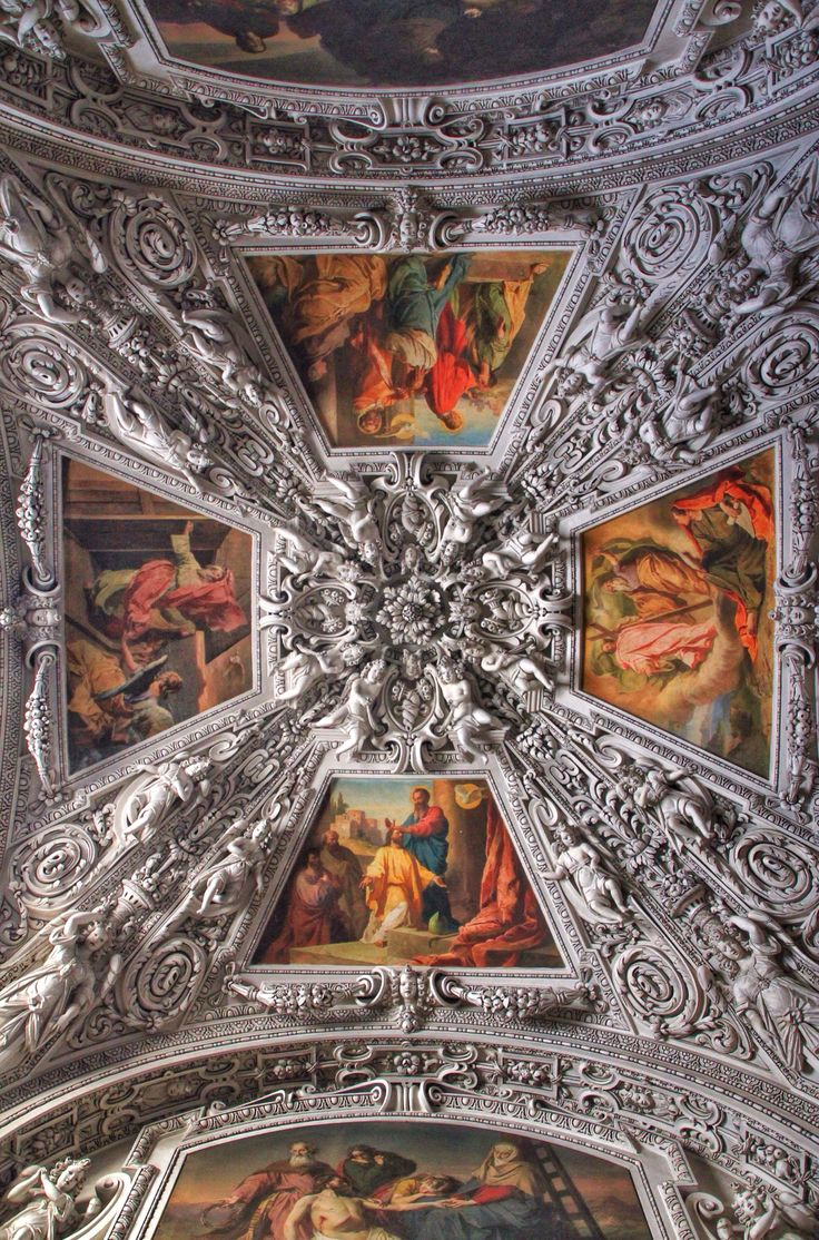 The cathedral ceiling (Salzburg)