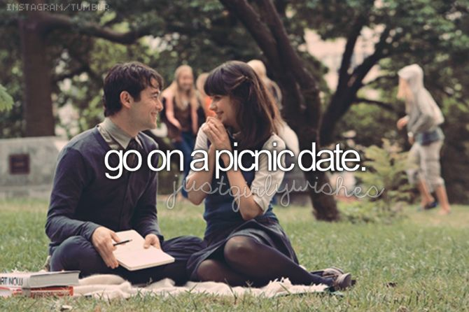Go on a picnic date. ()