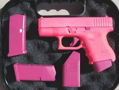 pink glock...Ok found my gun!