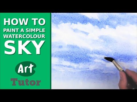 How to Paint a Simple Watercolour Sky - YouTube