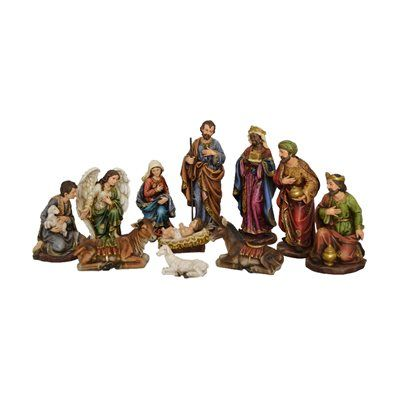 Hi-Line Gift 81890 12-in 11-Piece Nativity Set with Three Wise Men
