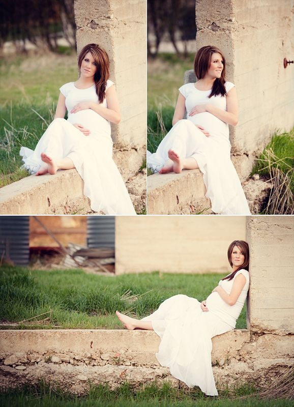 Beautiful maternity photography. Love the contrast in elements here {new mama and baby on the way against aged stone}.