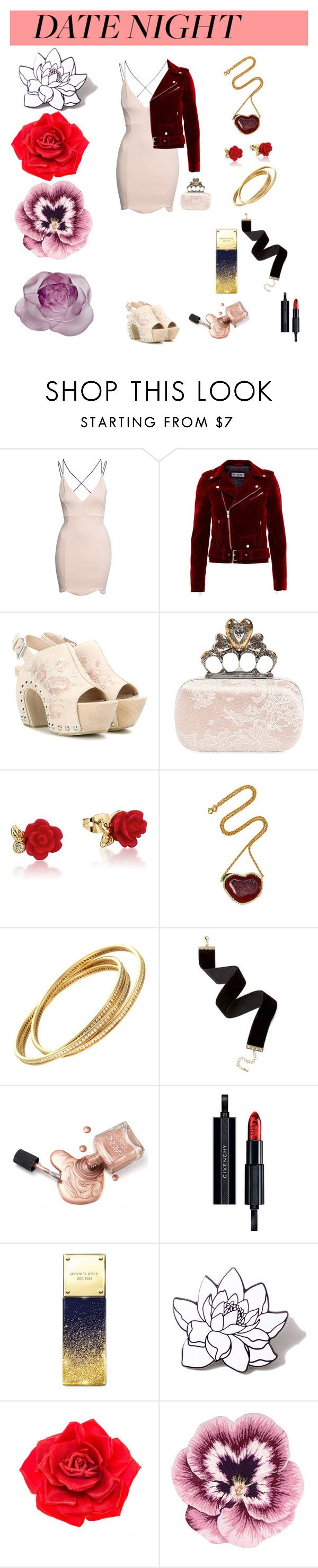 """""""Untitled #801"""" by spectrearcane ❤ liked on Polyvore featuring Boohoo, Alexander McQueen, Disney, Kimberly McDonald, Givenchy, Michael Kors, PINTRILL, Johnny Loves Rosie, Nourison and Daum"""