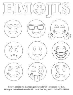 Free Emojis Coloring Page