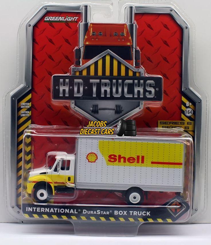 1:64 GREENLIGHT H.D. TRUCKS SERIES 6 - INTERNATIONAL DURASTAR BOX TRUCK - SHELL #GreenLight #International