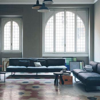 Cassina - Le Corbusier LC5 3-Sitzer Sofa 256x78cm - black/leather LCX 13X404/frame matt black