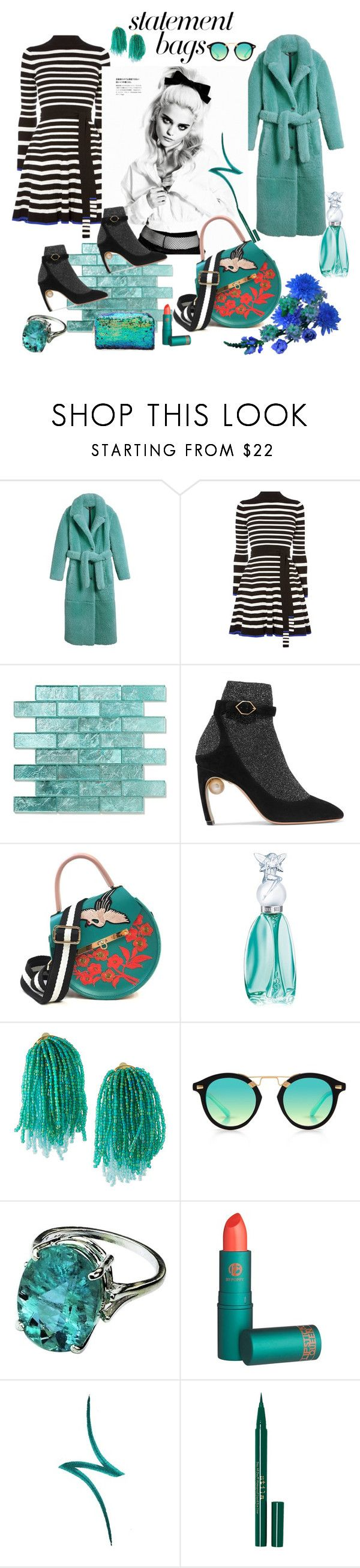 """""""♠♥♦♣"""" by hyunaluna ❤ liked on Polyvore featuring Burberry, Karen Millen, Nicholas Kirkwood, SANCHEZ, Angela Valentine Handbags, Anna Sui, Lydell NYC, Krewe, Lipstick Queen and By Terry"""