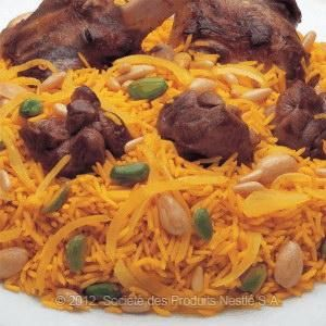 Saudi Rice with Lamb - use chicken broth or stock rather than Maggi.  I was surprised to find so many Saudi recipes on the Nestle website.