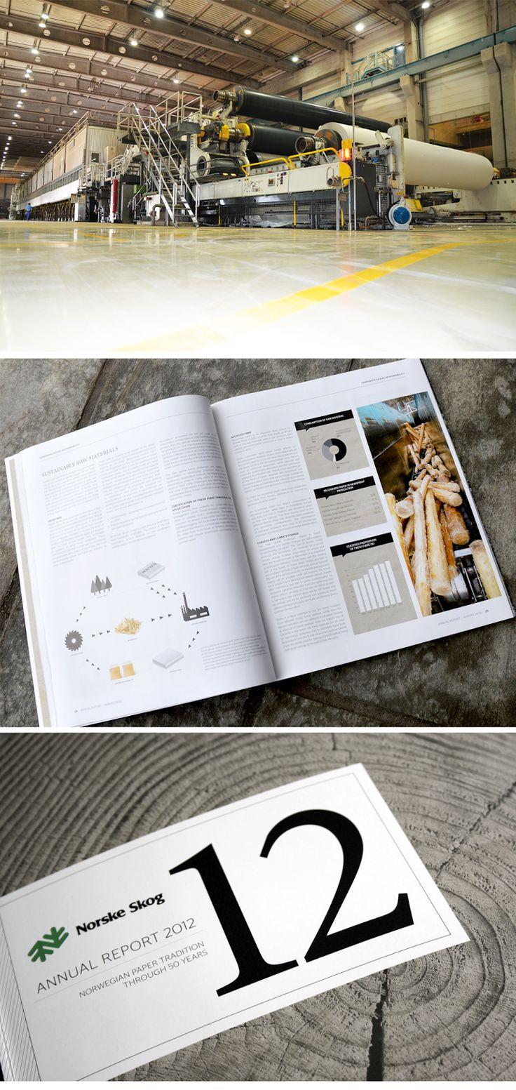 pan2ne design: Grafisk design. Norske Skog annual report 2012