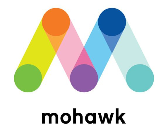 """Last week Mohawk announced a major reinvention of their business to """"thrive in today's digital world"""" and today marks the launch of a snazzy new website designed by Hydrant and developed by Avatar, as well as the introduction of a new identity designed by Pentagram partner Michael Bierut and associate partner Joe Marianek."""