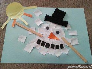Gesmolten Sneeuwpop