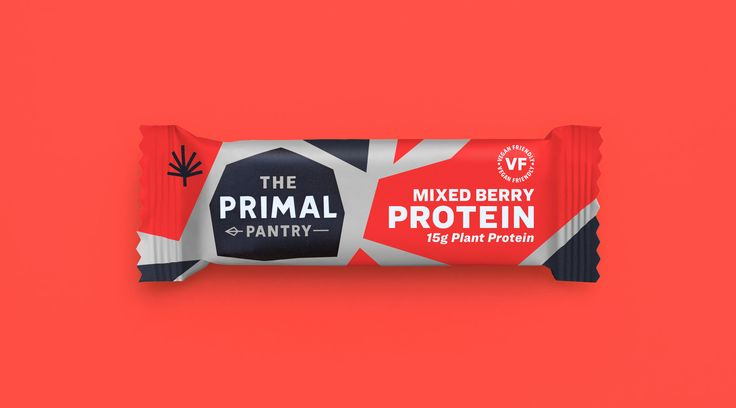 Packaging / Colour / Red / Energy / Protein / Protein Bar / Hemp Protein / Sports / Sports Bar / Primal Pantry