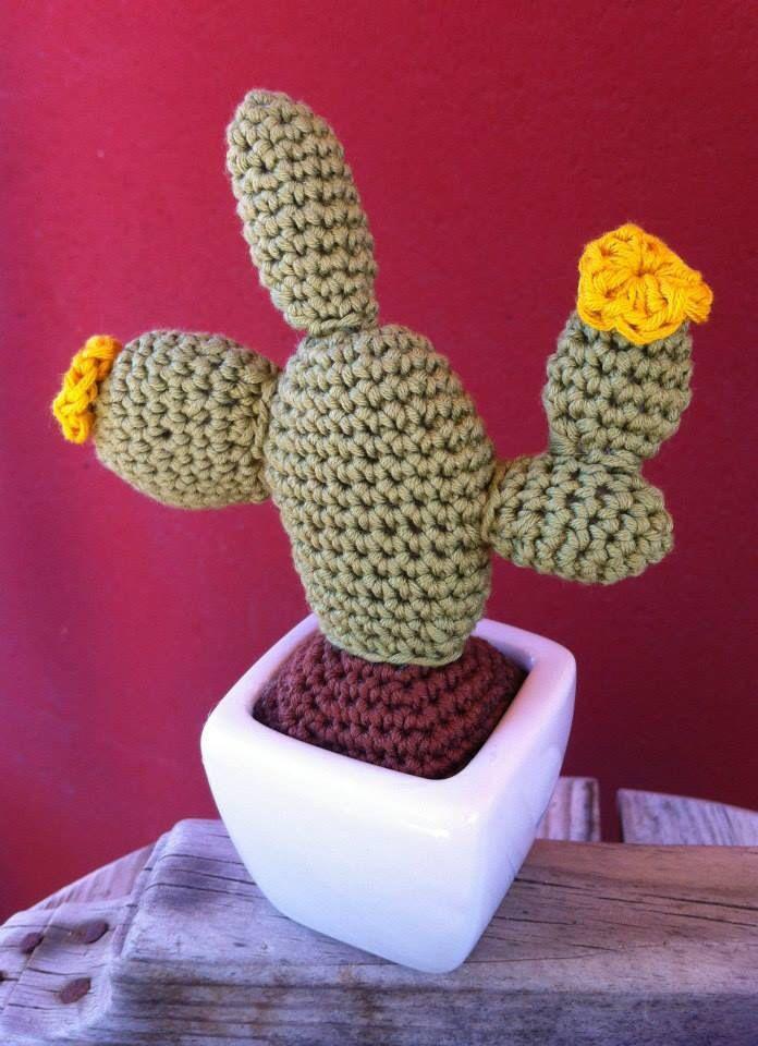 Amigurumi Cactus Tejiendo Peru : Cactus nopal amigurumi. Patron de Tejiendo Per?: http ...