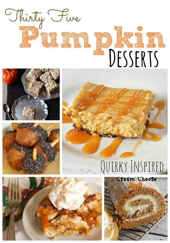 35 Pumpkin Dessert Recipes | Fall Desserts | Pumpkin Desserts || Quirky Inspired