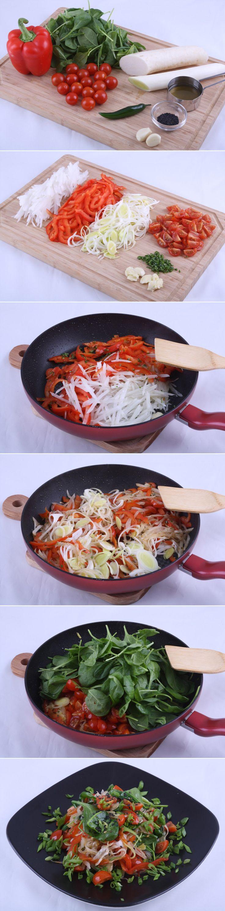 Пикантная вегетарианская горячая закуска из дайкона. Свежая и пикантная горячая закуска из редиса сорта дайкон. Очень полезный вегетарианский рецепт азиатской кухни, который готовится очень просто за 20 минут. Ингредиенты и рецепт...http://vk.com/dinnerday; http://instagram.com/dinnerday #закуска #кулинария #дайкон #редис #вегетарианское #еда #овощи #рецепт #dinnerday #food #cook #recipe #daikon #cookery #radishes #vegetables #vegetarian