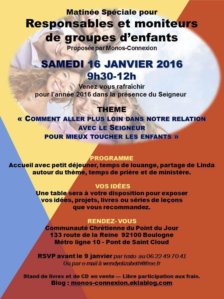 Rencontre Responsables et Moniteurs - 16 Janvier 2016 - Monos-Connexion