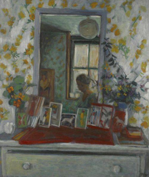 "huariqueje: "" Reflections - Margaret Olley Australian, 1923-2011 Oil on masonite, 65 x 65 cm """