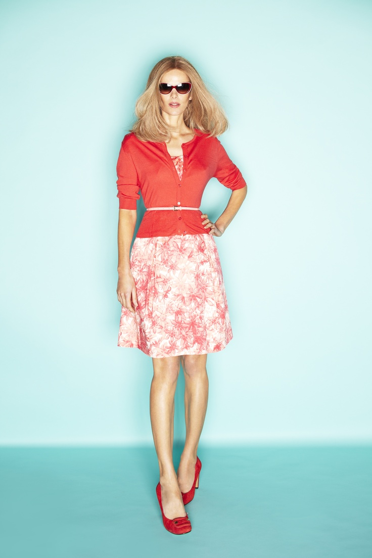 Passion Floral 50's Dress, $229, Cropped Cardi, $119, David Lawrence  Shop 12, Ground Floor, QVB