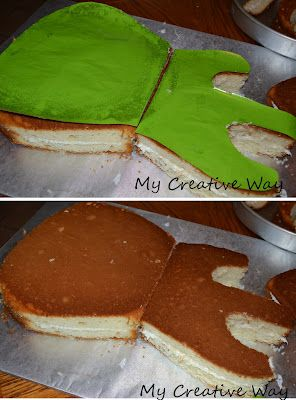 My Creative Way: How to Hand Carve a Guitar Cake - might need this for Olivia someday