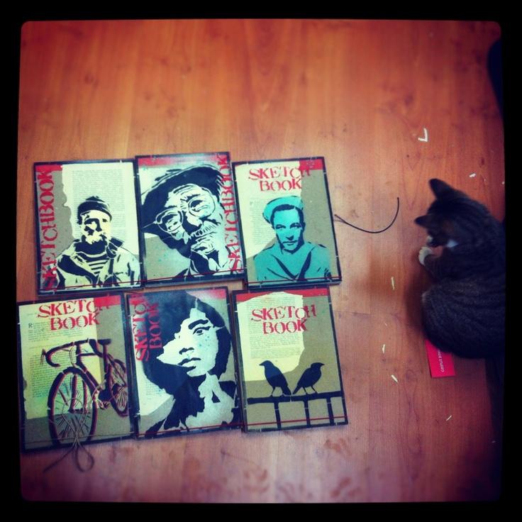 Frida and new tibetan sketchbooks