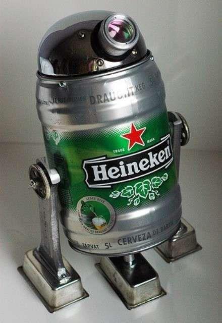 The Force needs a drink. Star Wars tribute beers. Beer2D2. Heineken R2D2 by Lockwasher Rocks.