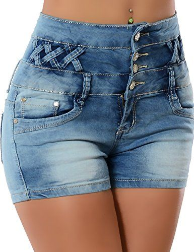 Damen Hotpants (Hochschnitt) No 13212, Größe:XS 34