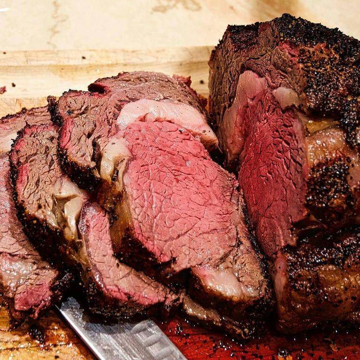 Again in honor of National Prime Rib Day this epic PR is courtesy of @dwpbbq -  Prime Ribeye Roast. Crispy texture smoke ring and medium rare tender inside. Speechless! @biggreenegginc #dwpbbq #beef #manmeatbbq #bge #Grill #Grilling #BBQ #Barbecue #FoodPorn #GrillPorn #BeefPorn #primerib #food #foodie #foodstagram #foodpics #Meat #MeatPorn #meatlover #Paleo #GlutenFree #BrotherhoodofBBQ #EEEEEATS #ForkYeah #GrillinFools