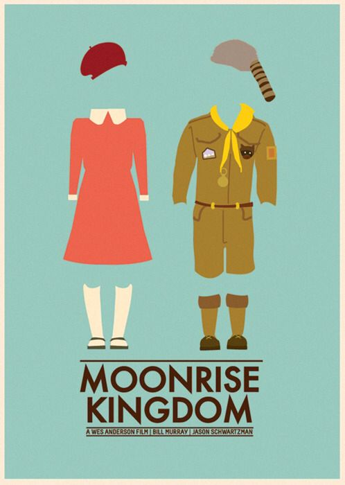Moonrise Kingdom // minimalist movie poster // directed by: Wes Anderson