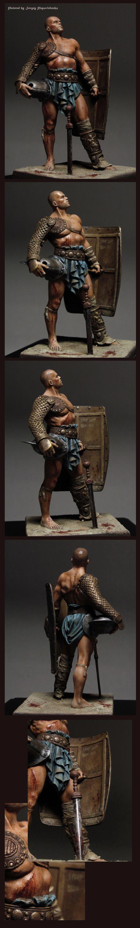 Gladiador pintado por Serguey Popovichenko