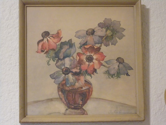 Vintage Water Color By Paul Immel Ckk Finds Designs