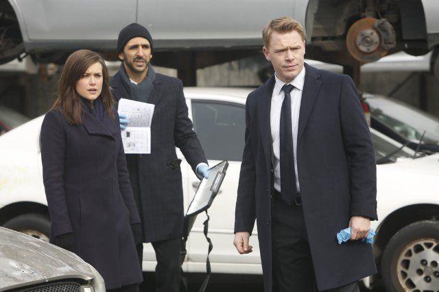 Megan Boone, Diego Klattenhoff and Amir Arison in The Blacklist, 2013