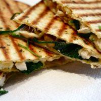 Quesadilla's met spinazie : Contactgrill Recepten