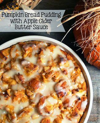 Pudding with Apple Cider Butter Sauce: Domestic Pumpkin, Butter Sauce ...