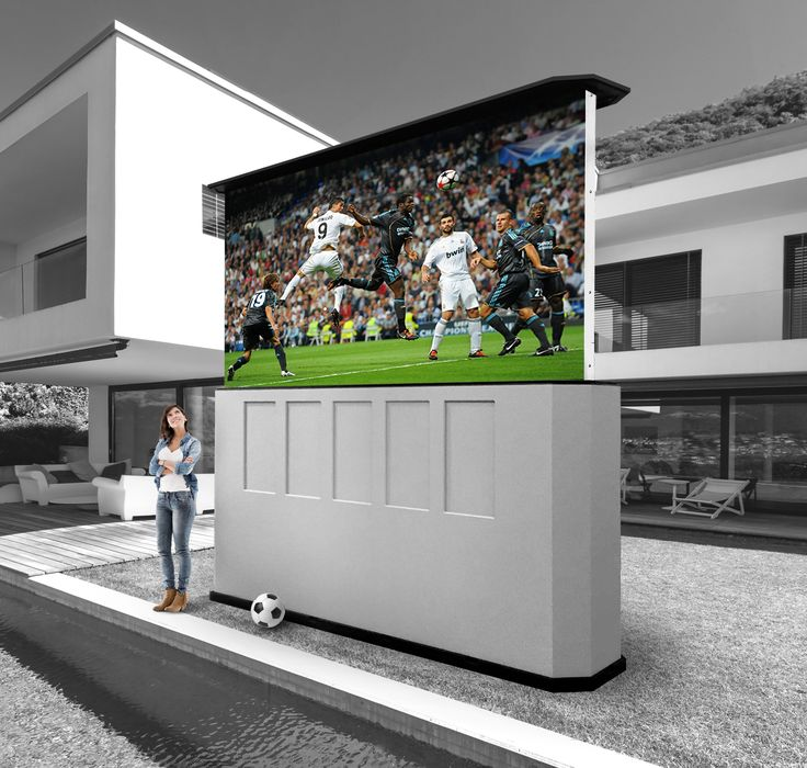 "Patio Theater, 155"" LED screen, tv, weather proof, outdoor theather, no projector, built in invisible speakers, long lifespan, rain sensor, Built in Mount Vernon, WA, USA, Stealth Acoustics"