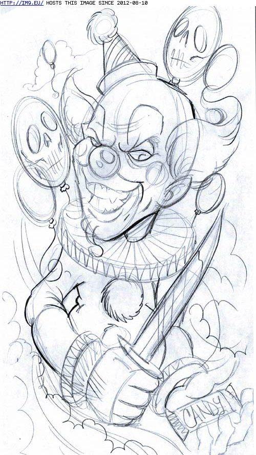 juggalette tattoos designs | Clown Tattoo Designs