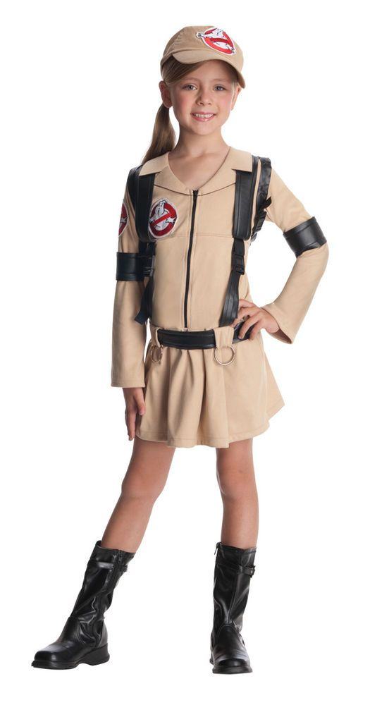 Girls Ghostbusters Halloween Costume Kids Ghost Busters Fancy Dress Childs Kids in Clothing, Shoes, Accessories, Costumes, Girl's Costumes | eBay