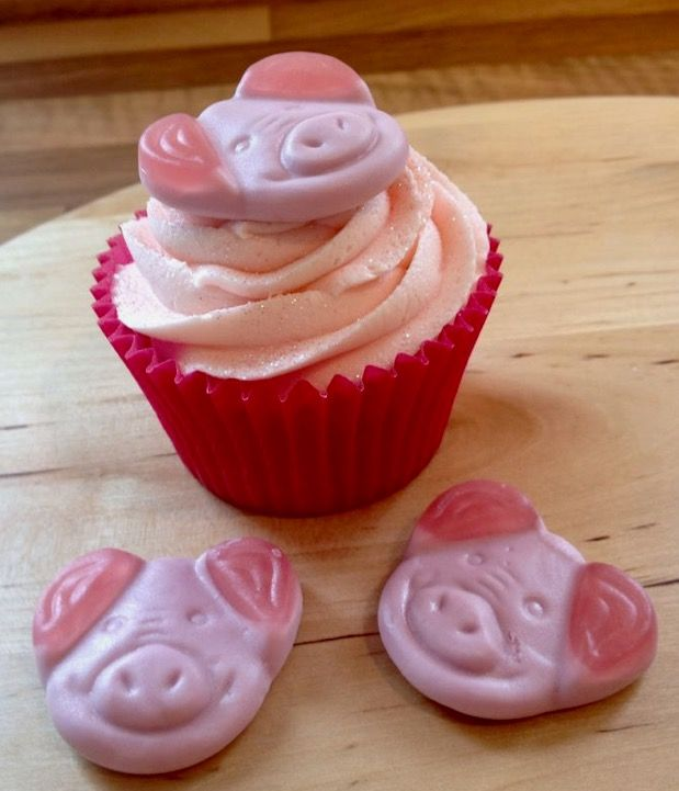 Percy Pig Cupcakes