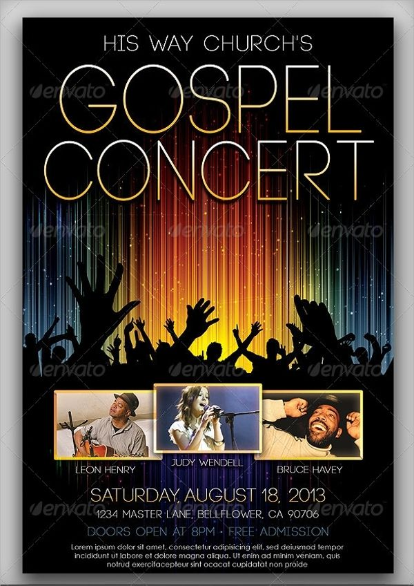 Free Concert Flyer Templates Word