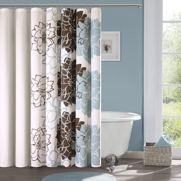 Madison Park Farrah Cotton Sateen Shower Curtain Jack And Jill Or Guest  Bath Option