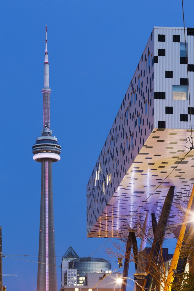 Ontario's CN Tower and College of Art & Design