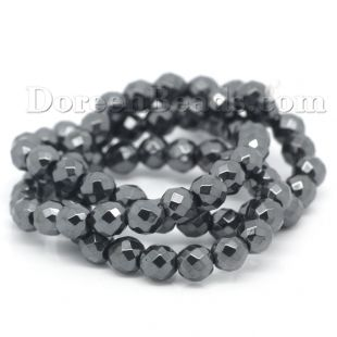 Worldwide Free Shipping Hematite Loose Beads Ball Round Gunmetal Faceted 6mm Dia,39cm(15 3/8) long,1 Strand(approx 70PCs) [B25556] at incredible low price– DoreenBeads.com