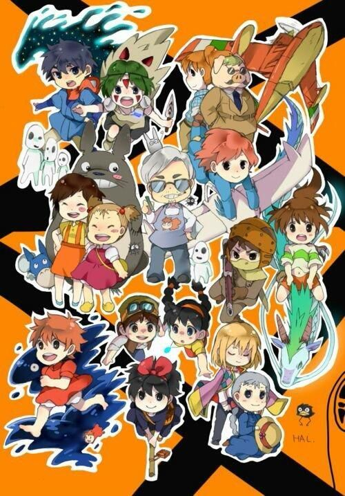 GHIBLI STUDIO Hayao Miyazaki All Protagonist Chibi Characters